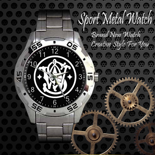 Smith And Wesson 3 Firearms 2nd Amendment Sport Metal Watch