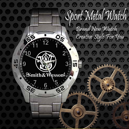 Smith And Wesson 4 Firearms 2nd Amendment Sport Metal Watch