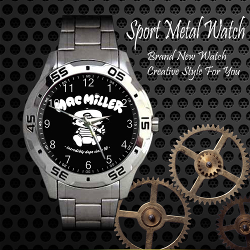 Mac Miller 1 Skateboard Sport Metal Watch