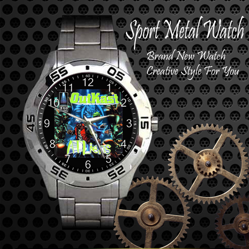 Outkast Atliens Rap Skateboard Sport Metal Watch