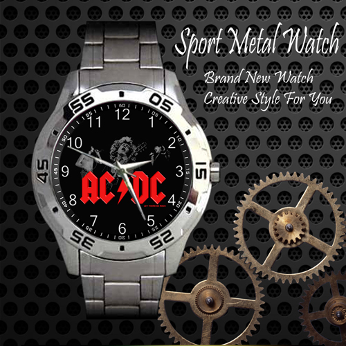 Acdc Rock Band Sport Metal Watch