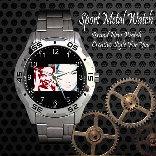 Bjork 2 Rock Band Sport Metal Watch