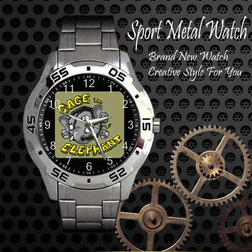 Cage The Elephant 4 Rock Band Sport Metal Watch