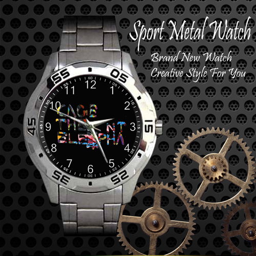 Cage The Elephant Rock Band Sport Metal Watch