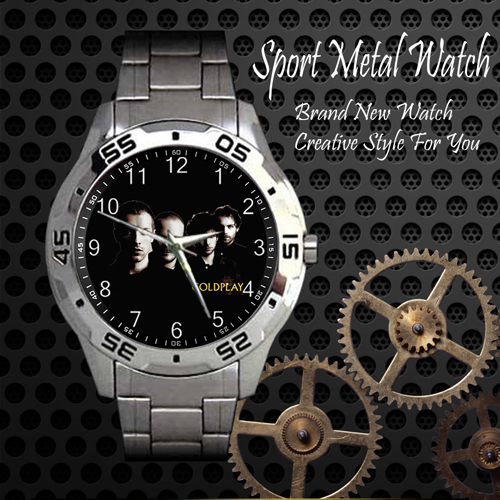 Coldplay 4 Rock Band Sport Metal Watch