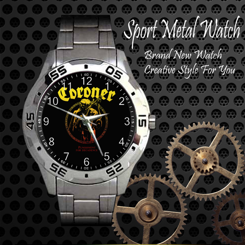 Coroner Punishment For Decadence Rock Band Sport Metal Watch