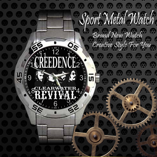 Creedence Clearwater Revival 2 Rock Band Sport Metal Watch