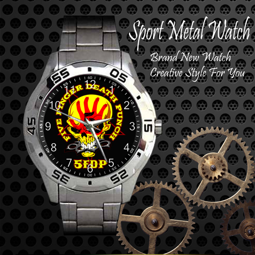 Five Finger Death Punch 2 Rock Band Sport Metal Watch