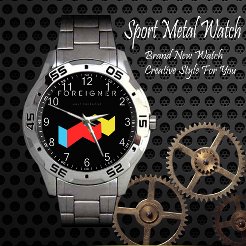 Foreigner Agent Provocateur Rock Band Sport Metal Watch
