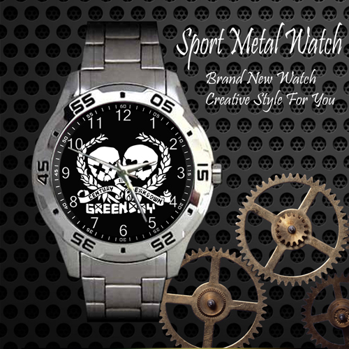 Green Day 2 Rock Band Sport Metal Watch