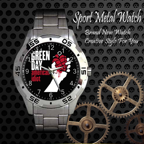 Green Day American Idiot 1 Rock Band Sport Metal Watch