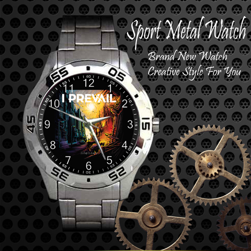 I Prevail 3 Rock Band Sport Metal Watch