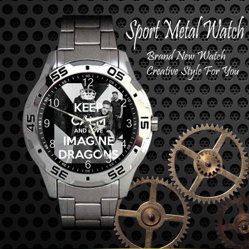 Imagine Dragons 5 Rock Band Sport Metal Watch