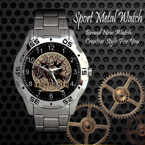 Iron Maiden The Book Of Souls Rock Band Sport Metal Watch