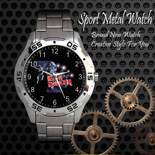Iron Maiden Rock Band Sport Metal Watch