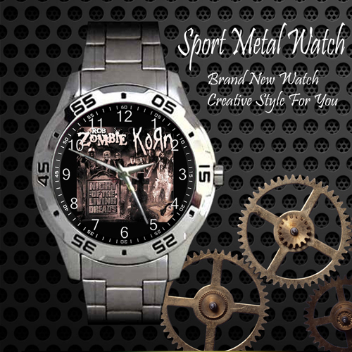 Korn Rob Zombie Night Of The Living Dreads Rock Band Sport Metal Watch
