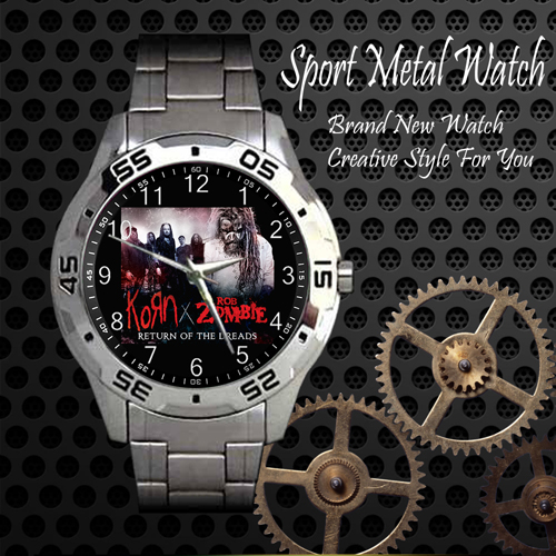 Korn Rob Zombie Return Of The Dreads Rock Band Sport Metal Watch