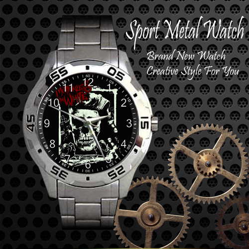 Motionless In White 4 Rock Band Sport Metal Watch