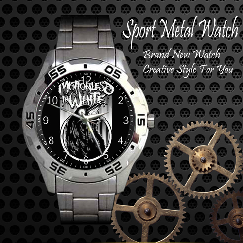Motionless In White 5 Rock Band Sport Metal Watch