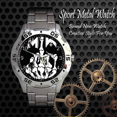 Motionless In White 6 Rock Band Sport Metal Watch