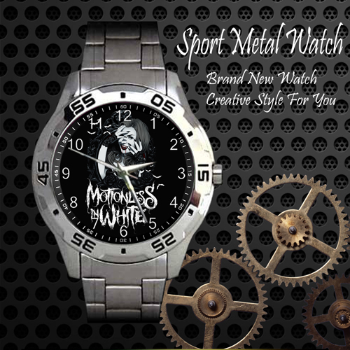 Motionless In White 7 Rock Band Sport Metal Watch