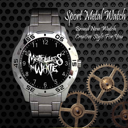 Motionless In White Rock Band Sport Metal Watch