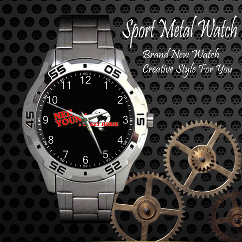 Neil Young Crazy Horse 1 Rock Band Sport Metal Watch