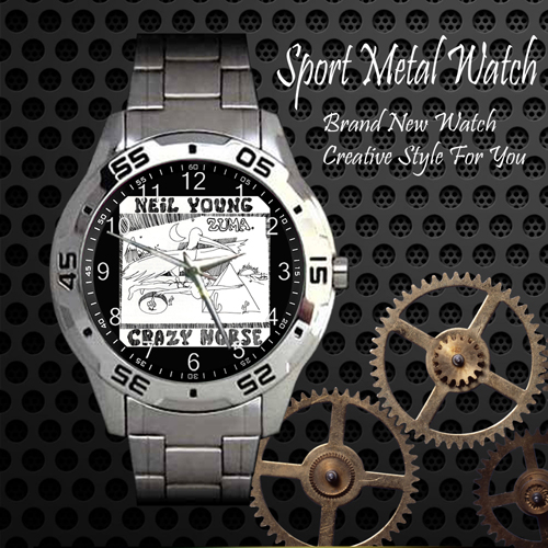 Neil Young Crazy Horse 2 Rock Band Sport Metal Watch
