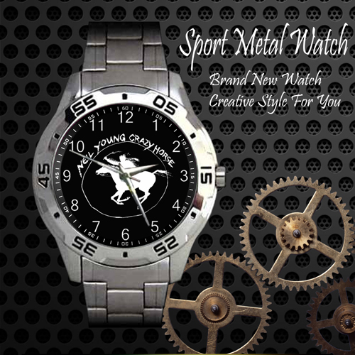 Neil Young Crazy Horse Rock Band Sport Metal Watch