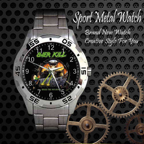Overkill Rock Band Sport Metal Watch
