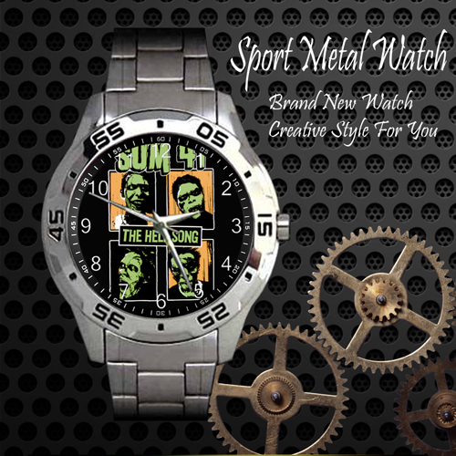 Sum 41 The Hell Song Rock Band Sport Metal Watch
