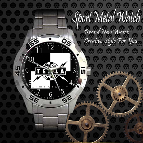 Tesla 1 Rock Band Sport Metal Watch