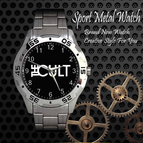 The Cult Rock Band Sport Metal Watch