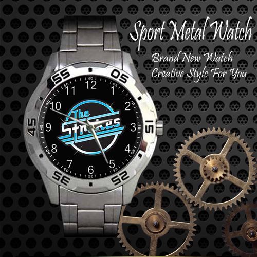 The Strokes 2 Rock Band Sport Metal Watch