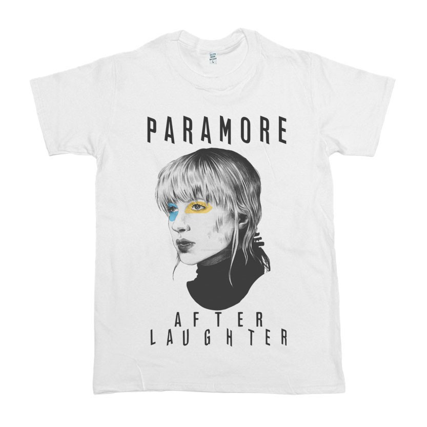 Paramore After Laughter Rock Band Tshirt Fco Black White T-Shirt Tee