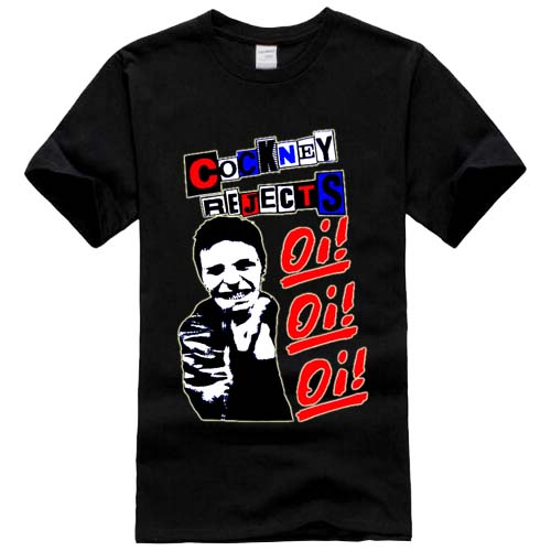 Cockney Rejects Oi! 4 Rock Band Tshirt Black White T-Shirt Tee